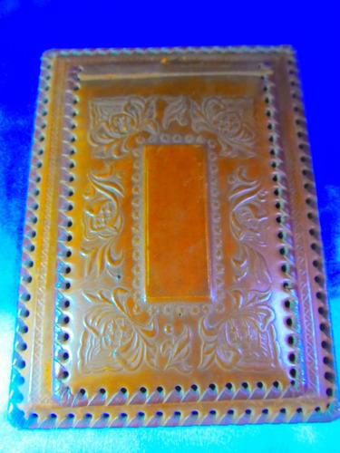 el arcon antiguo portaagenda portanota cuero repujado m1117