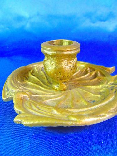 el arcon antiguo portavelas de bronce 23056