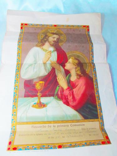 el arcon antiguo recuerdo primera comunion lourdes 1936  107