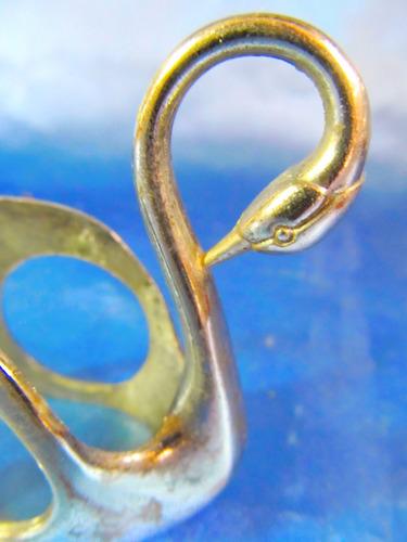 el arcon antiguo servilletero de metal motivo cisne 24071