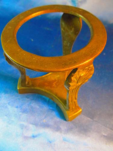 el arcon antiguo soporte de bronce para cristal 40057