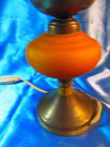 el arcon antiguo velador de bronce y cristal 20,5cm 59504