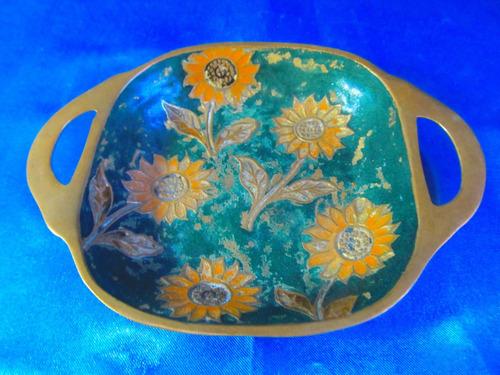 el arcon bandeja de bronce cloissone 15072