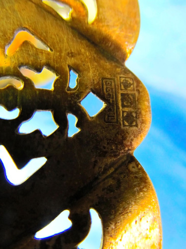 el arcon bandeja de metal art deco calada 22053