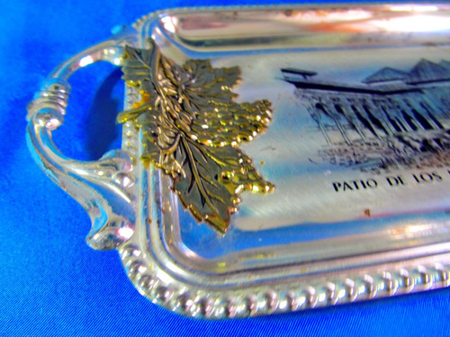 el arcon bandeja de metal imagen patio de granada 25060