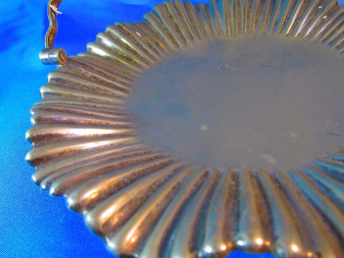 el arcon bandeja masitera centro de mesa de plata 25cm 51058