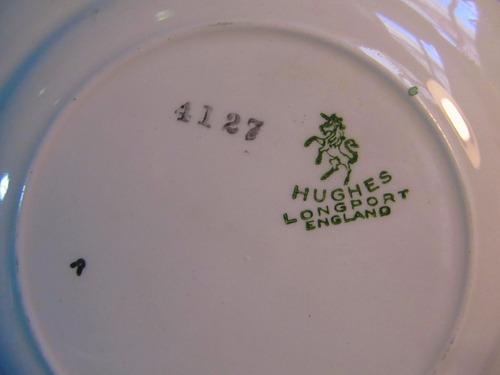el arcon bandeja masitera y 12 platos porcelana hughes 44100