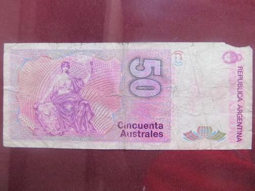 el arcon billete argentino australes de 50 australes 383