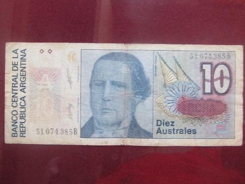 el arcon billete argentino de 10 australes 383