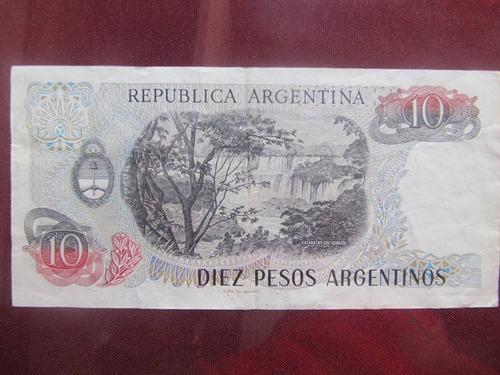 el arcon billete argentino peso argentino de 10 pesos 383