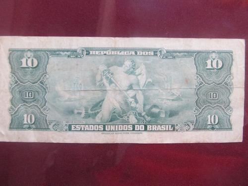 el arcon billete brasil de diez cruzeiros 38601
