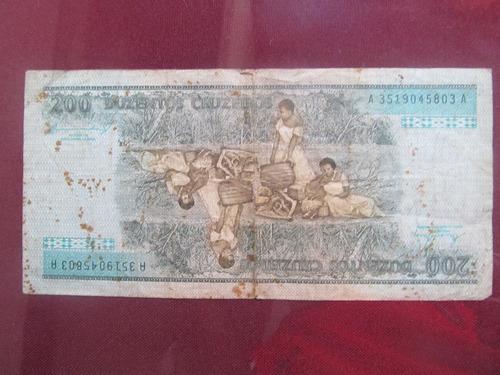 el arcon billete brasil de doscientos cruzeiros 38606