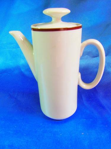 el arcon cafetera de porcelana veracruz borde oro 20cm 23101