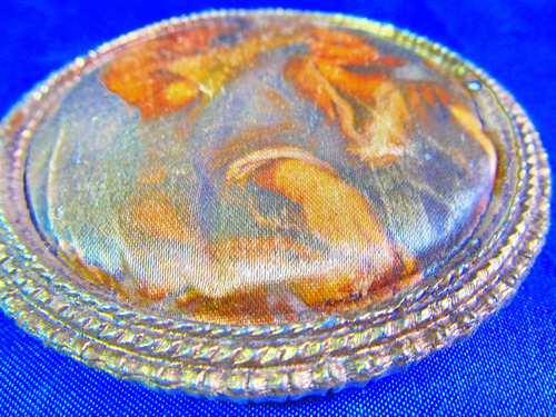 el arcon camafeo cuadro redondo seda marco metal 25110