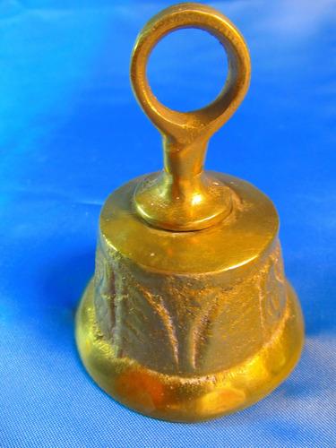 el arcon campana llamador de bronce labrada 9,5cm 42066