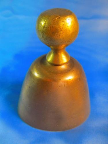 el arcon campana llamador de bronce pesada  11,7cm 42068