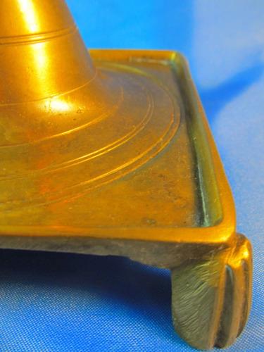 el arcon candelabro bronce con gran base 24cm 44055