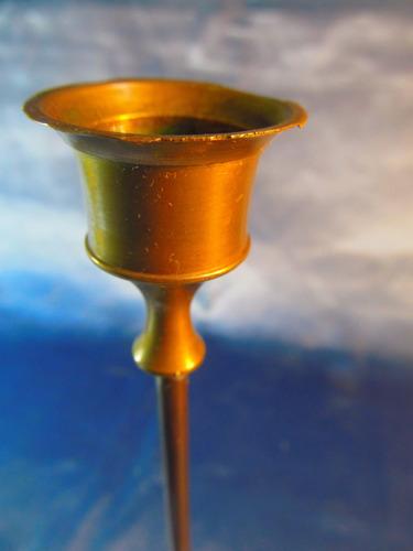 el arcon candelabro de bronce de una vela 17,5cm 37065