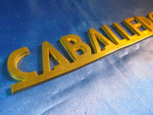 el arcon cartel de bronce caballeros 23cm 41068