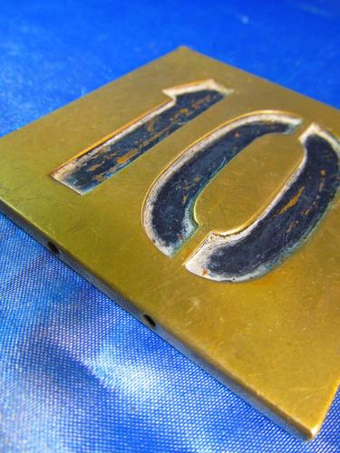 el arcon cartel de bronce numero 10 8x8 41064