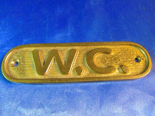 el arcon cartel de bronce w.c 10cm 41066