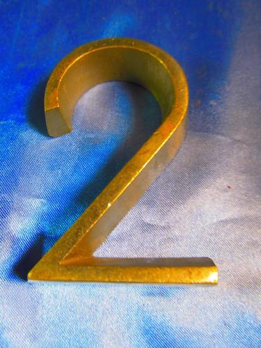 el arcon cartel de metal nro 2 8,5cm x 5,5cm 41062