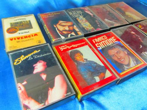 el arcon cassette lote x 10 simone, cortez, guerra etc 10062