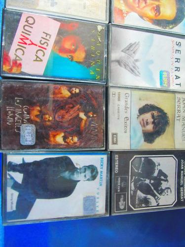 el arcon cassette lote x 8 serrat, sabina, ricky marti 10061