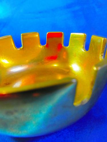el arcon cenicero circular de bronce  pesado 10 cm 3525