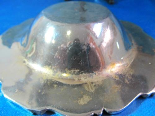 el arcon cenicero circular metal blanco y bronce 15cm 3508