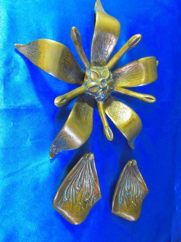 el arcon cenicero de bronce flor de lis 15067