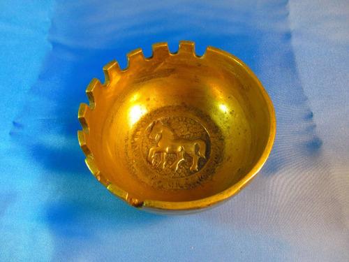 el arcon cenicero de bronce labrado pesado 13,8cm 43056