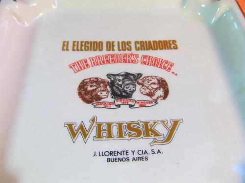 el arcon cenicero de porcelana verbano whisky criadore 52506