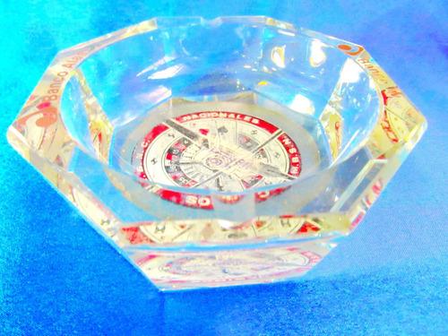 el arcon cenicero publicitario  coleccion de vidrio 14cm 612