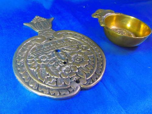 el arcon cenicero y posapavas de bronce labrado 31052