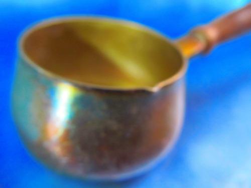 el arcon chocolatera mini con baño de plata, sellado 1015