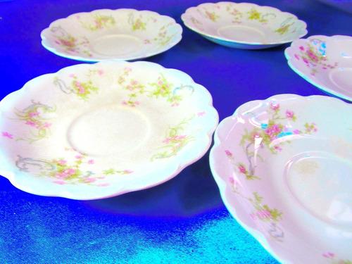 el arcon cinco (5) platos de te porcelana johnson bros 14109