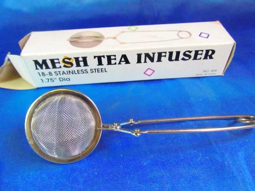 el arcon colador de te de acero inoxidable en caja 22058