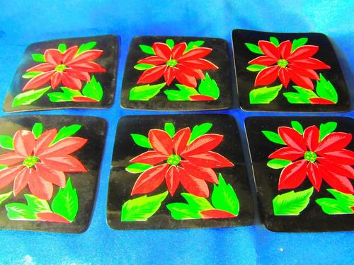 el arcon colecion de posavasos de plastico motivo flores 625