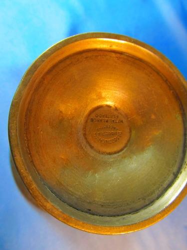 el arcon copa de metal blanco plateado 12cm 52063