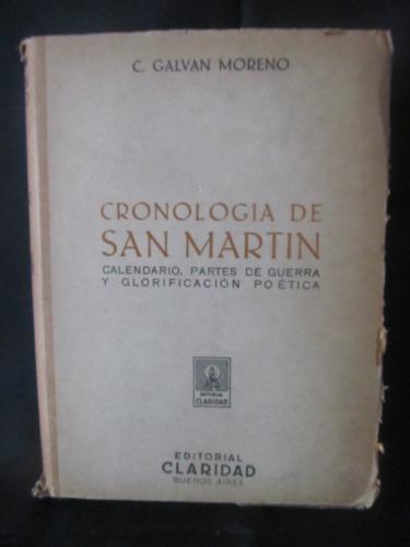 el arcon cronologia de san martin por c. galvan moreno