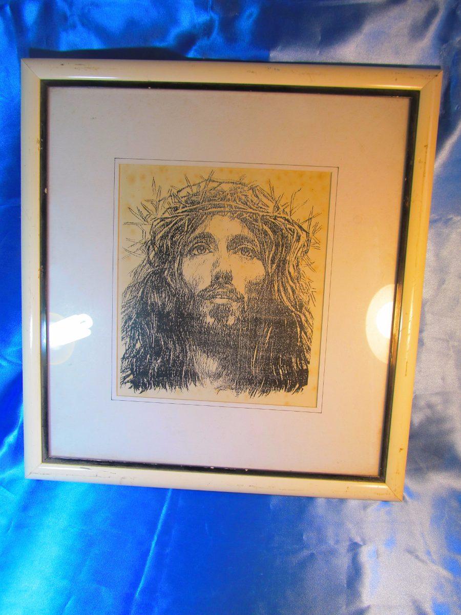 El Arcon Cuadro Carbonilla Enmarcado Jesus 41x44cm 5006 - $ 625,00 ...