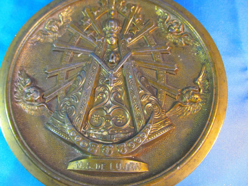el arcon cuadro de bronce virgen de lujan 22,5cm  45050