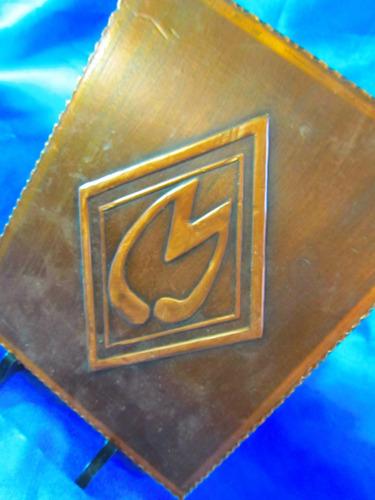 el arcon cuadro de cobre con letra m de 17 x 22 cm 2514