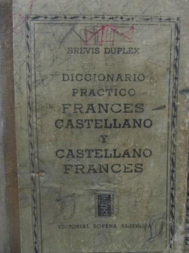 el arcon diccionario practico frances castellano de 1942