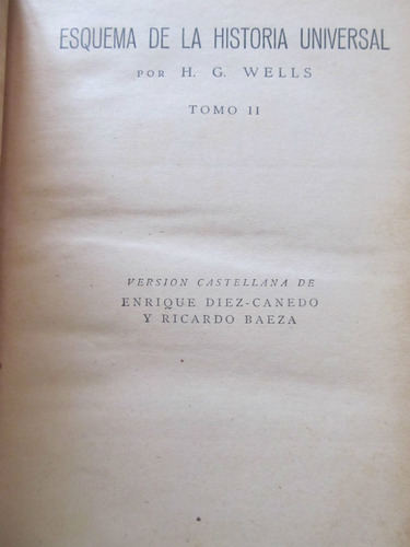 el arcon esquema de la historia universal - h. g. wells