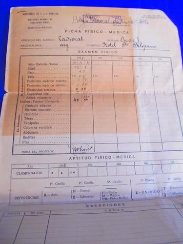 el arcon  ficha fisico medica colegio nacional  1948 105 03