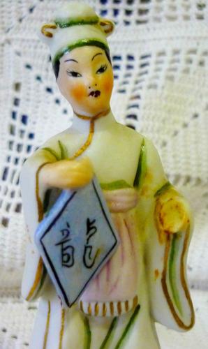 el arcon figura dama antigua japonesa de porcelana 1017