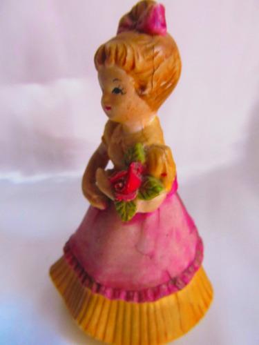 el arcon figura de pasta dama antigua con un ramo 4008