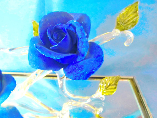 el arcon figura rosas en cristal de murano pieza unica 5101